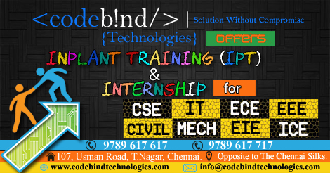 inplant training in chennai